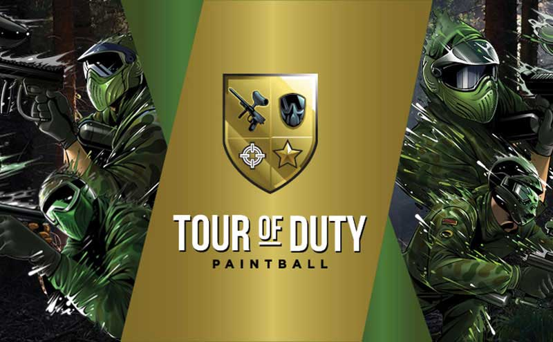 Custom designed artwork for Tour of Duty paintball