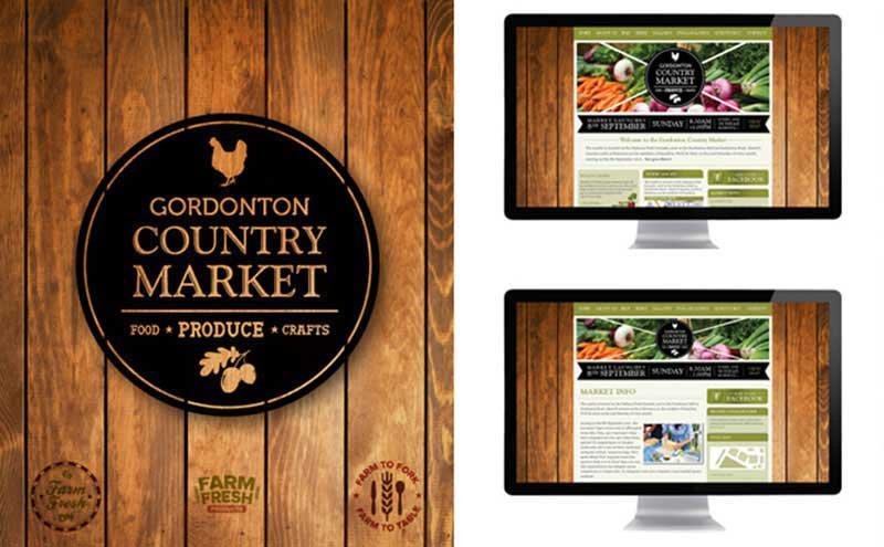Custom designed artwork for Gordonton Country Market